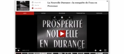 Capture d'écran sur le site Ina.fr